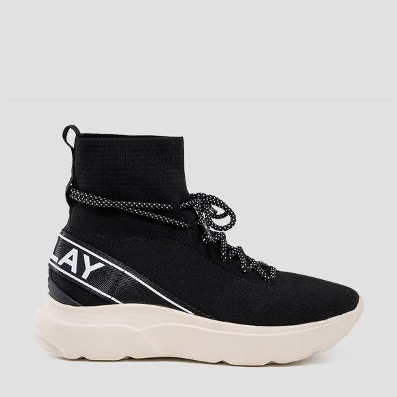 Women's DRAGONFLY lace up mid cut sneakers - Replay GWS3R_000_C0004T_008_1