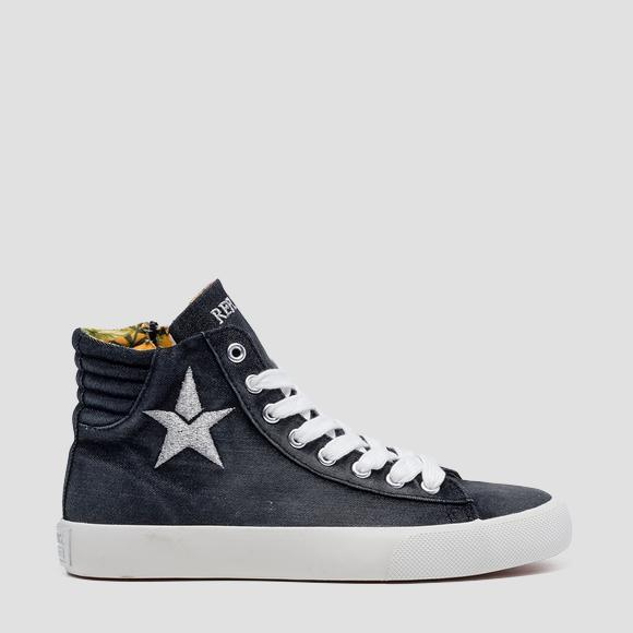 Women's LAWNE lace up mid cut sneakers - Replay GWV79_000_C0016T_003_1