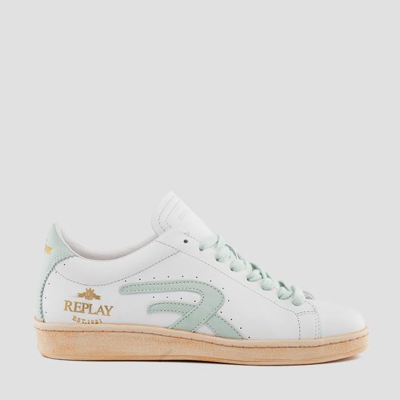 Women's TARRYTOWN lace up leather sneakers - Replay GWZ3E_000_C0001L_2961_1