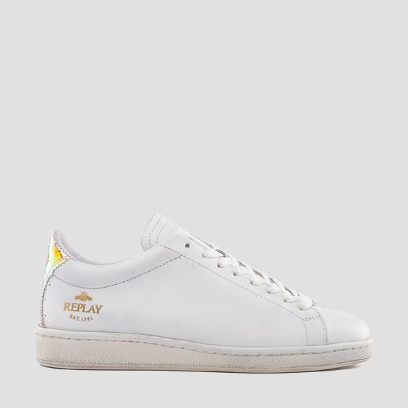 Women's HEYWOOD lace up leather sneakers - Replay GWZ3I_000_C0001L_2803_1