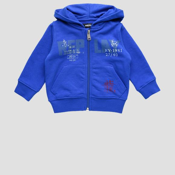 Hoodie with REPLAY print- REPLAY&SONS PB2440_052_22739_888_1