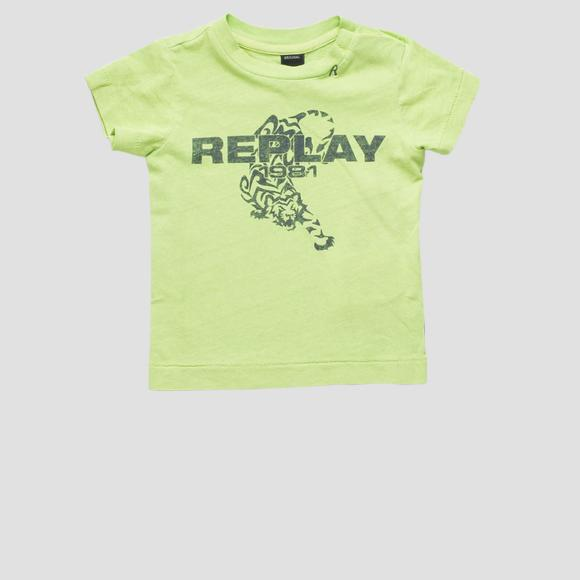 T-shirt with tiger print- REPLAY&SONS PB7308_075_22660G_732_1