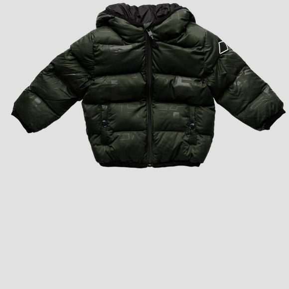 Padded jacket with REPLAY print- REPLAY&SONS PB8192_050_83798KC_135_1