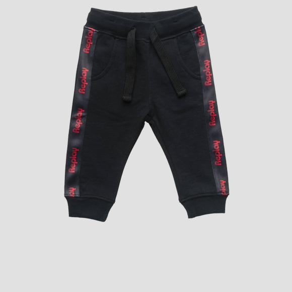 Fleece trousers with writings- REPLAY&SONS PB9013_050_20372C_098_1
