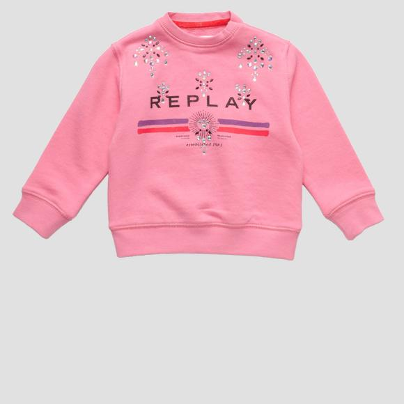 Sweat avec strass- REPLAY&SONS PG2079_052_20990_366_1