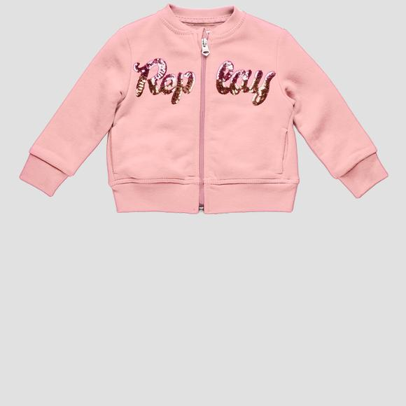 Replay sweatshirt with zipper and sequins- REPLAY&SONS PG2335_051_22852_561_1