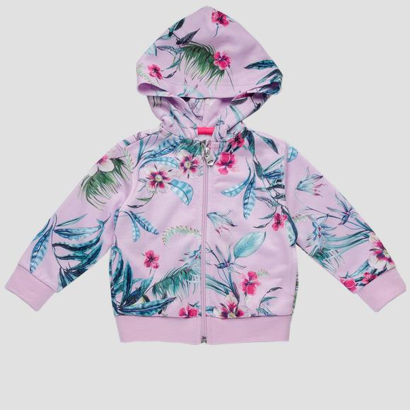 Sweatshirt with floral print- REPLAY&SONS PG2336_051_29868KI_699_1