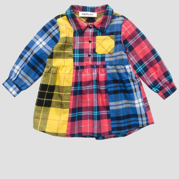 Multicoloured checked dress- REPLAY&SONS PG3773_050_52210KE_010_1