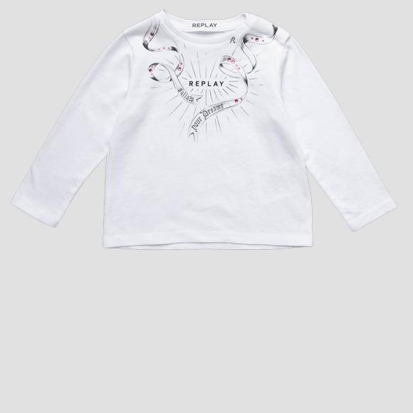 Sweater with rhinestones- REPLAY&SONS PG7091_066_20994_001_1