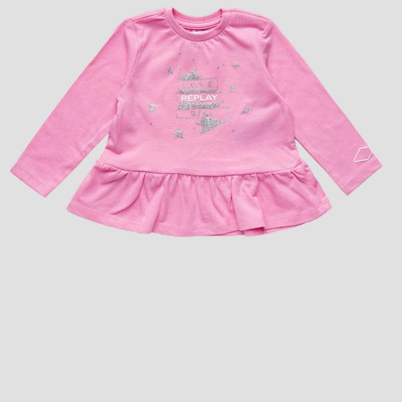 REPLAY t-shirt with glitter print- REPLAY&SONS PG7143_050_22784_307_1