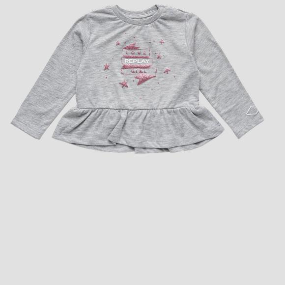 REPLAY t-shirt with glitter print- REPLAY&SONS PG7143_050_22784_M06_1