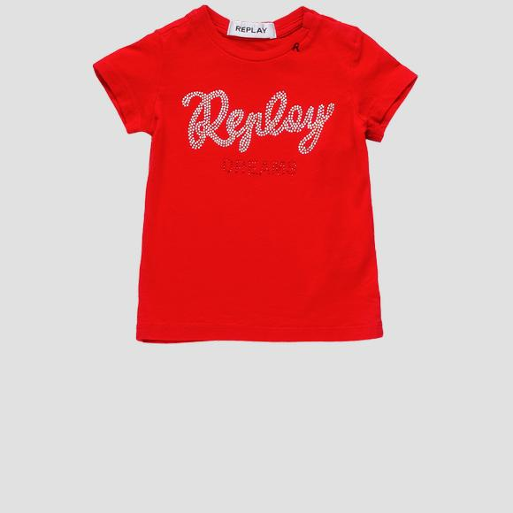 REPLAY t-shirt with rhinestones- REPLAY&SONS PG7472_055_22858_814_1