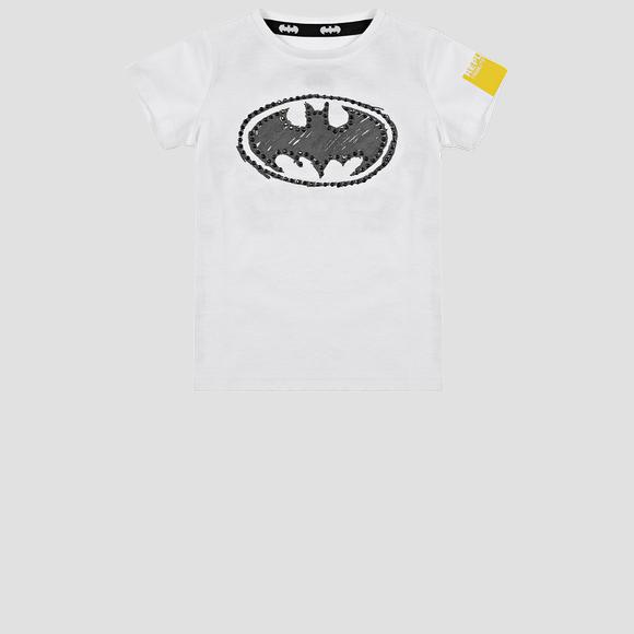 Jersey crewneck t-shirt with REPLAY TRIBUTE LIMITED EDITION BATMAN E JOKER print- REPLAY&SONS PG7472_500_21002_001_1