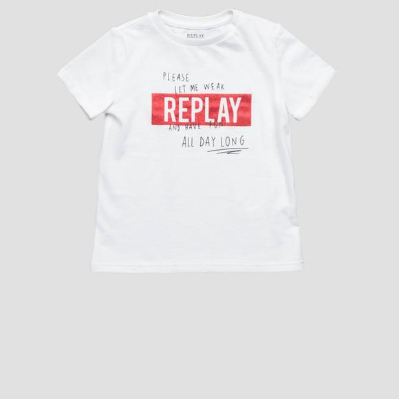 T-shirt with lettering print- REPLAY&SONS PG7491_056_20994_001_1