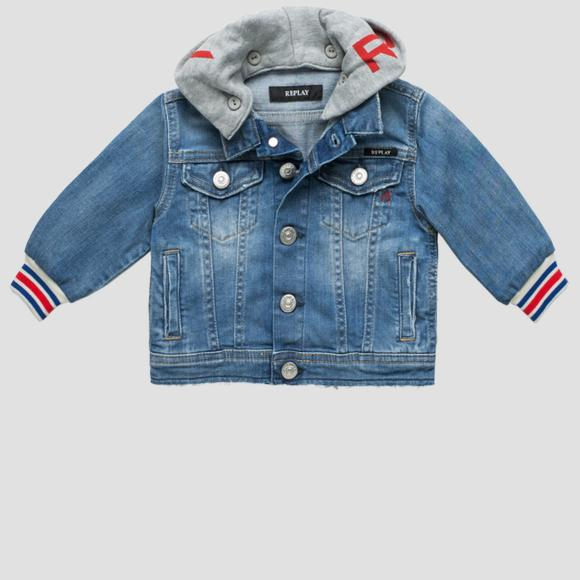 Denim jacket with hood- REPLAY&SONS PG8199_050_115-401_001_1