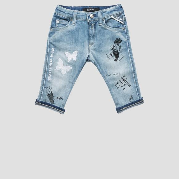 Jeans with printed embroideries- REPLAY&SONS PG9179_054_115-403_001_1