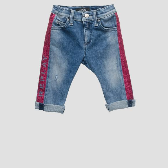 Jeans with glitter detailing- REPLAY&SONS PG9180_050_225-815_001_1