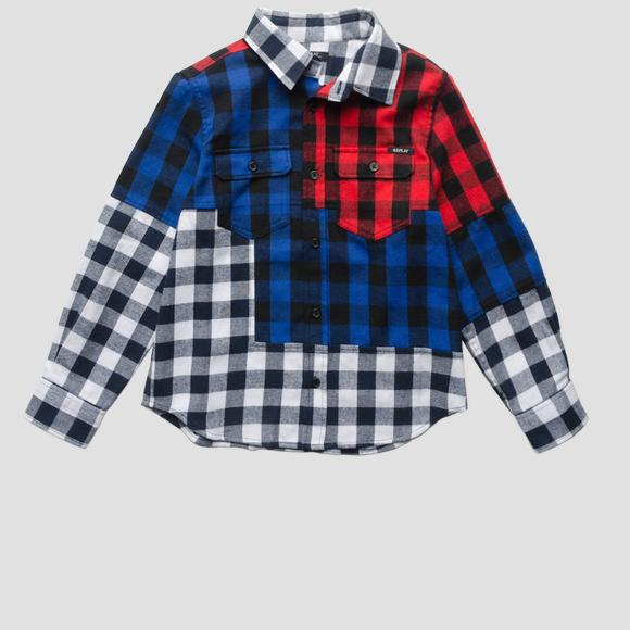Multicoloured checked shirt- REPLAY&SONS SB1106_050_50101_010_1