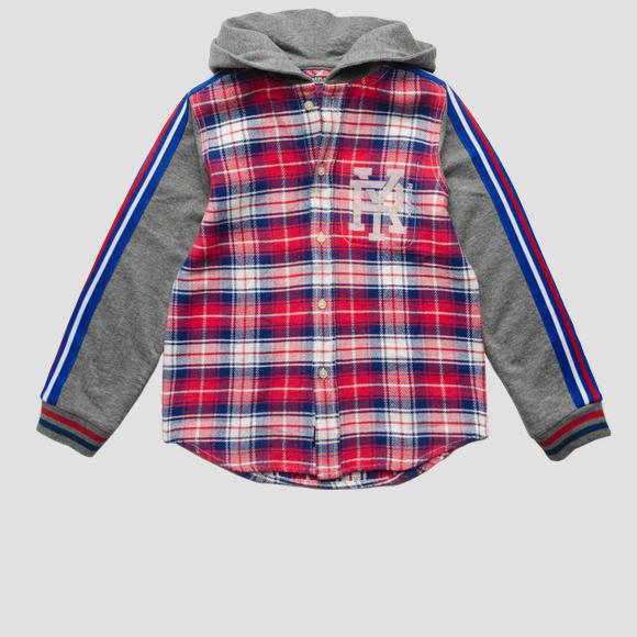 Sweatshirt with checked insert- REPLAY&SONS SB1109_050_52124_010_1