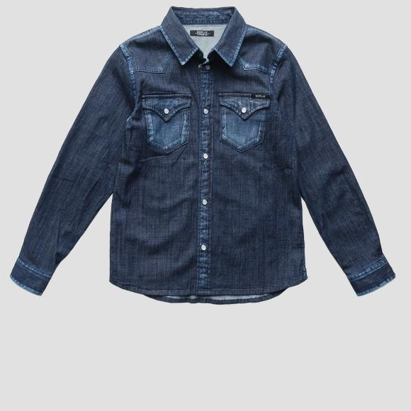 Denim shirt with two pockets- REPLAY&SONS SB1110_050_15A_001_1