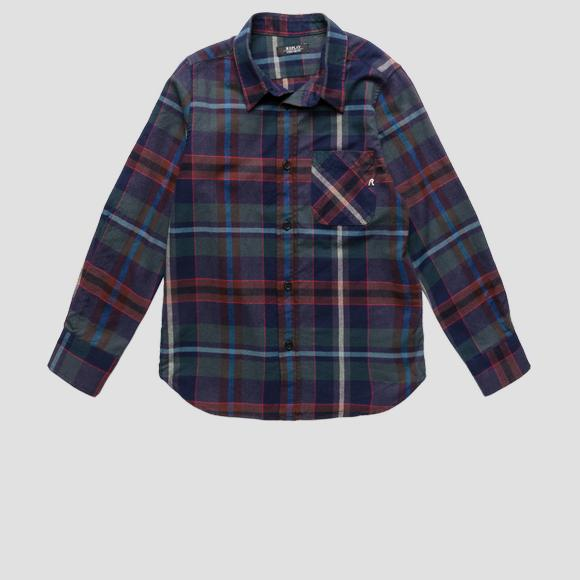 Regular fit checked shirt- REPLAY&SONS SB1113_050_52362_010_1
