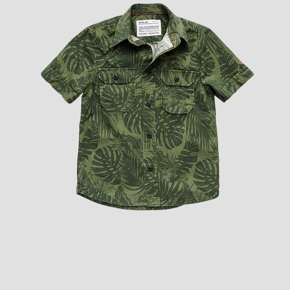 Cotton shirt with all-over print- REPLAY&SONS SB1518_050_73416_532_1