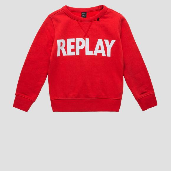 Crewneck sweatshirt with REPLAY writing- REPLAY&SONS SB2026_011_20372_559_1