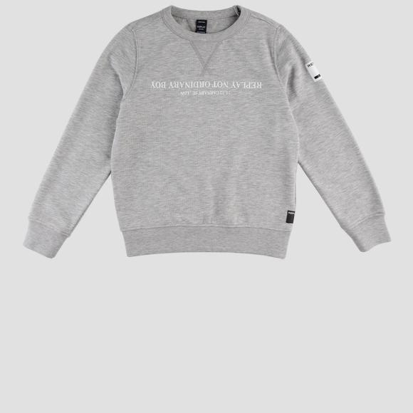 Crewneck mélange Replay sweatshirt- REPLAY&SONS SB2026_059_22739_M04_1