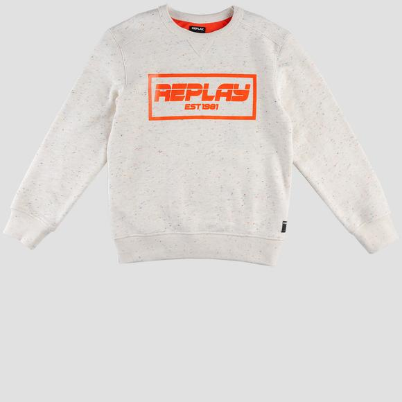 Replay Est 1981 mélange sweatshirt- REPLAY&SONS SB2045_050_22854_010_1