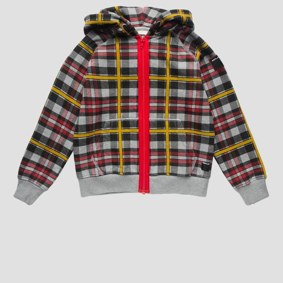 Checked sweatshirt- REPLAY&SONS SB2435_050_20372KW_010_1