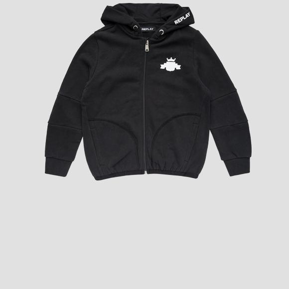 REPLAY hoodie with pockets- REPLAY&SONS SB2721_050_20372C_099_1