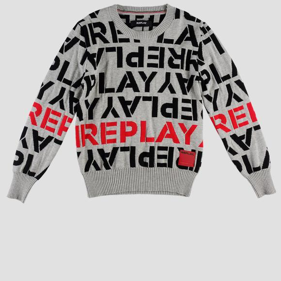 Jacquard cotton Replay sweater- REPLAY&SONS SB5001_050_G22918J_020_1