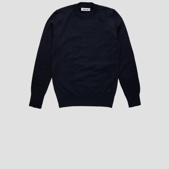 Hyperflex cotton crewneck sweater- REPLAY&SONS SB5055_050_G22920_500_1