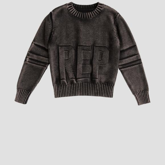 Cotton crewneck pullover REPLAY- REPLAY&SONS SB5057_050_G21280Q_098_1