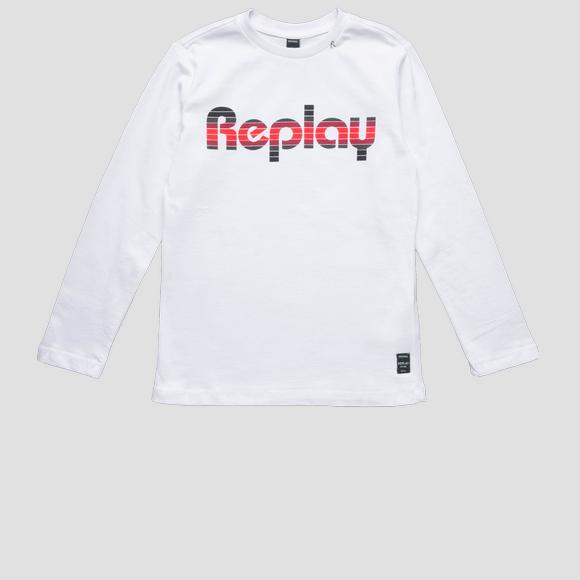 Long-sleeved REPLAY t-shirt- REPLAY&SONS SB7060_087_22784_001_1