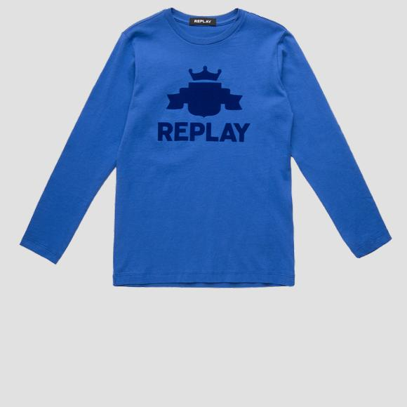 Jersey t-shirt with REPLAY print- REPLAY&SONS SB7060_096_2660_790_1