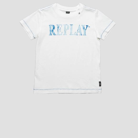 Basic cotton t-shirt- REPLAY&SONS SB7308_014_2660_001_1