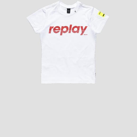 Regular fit t-shirt with Replay print- REPLAY&SONS SB7308_020_20994_002_1