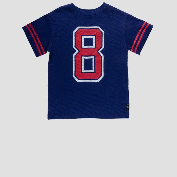 Jersey t-shirt with openwork- REPLAY&SONS SB7326_050_22822_187_1