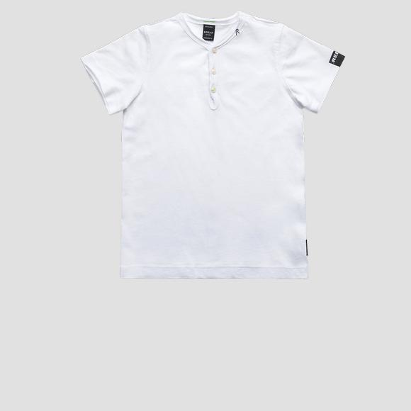 T-shirt with buttons- REPLAY&SONS SB7342_054_20994_001_1
