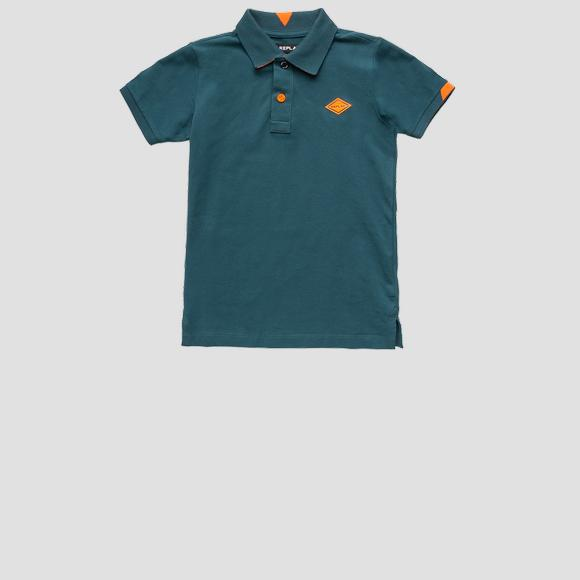 Polo shirt in stretch pique REPLAY- REPLAY&SONS SB7505_050_21868_696_1
