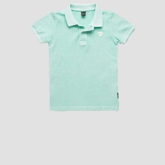 Polo shirt with R logo patch- REPLAY&SONS SB7524_057_22696F_189_1