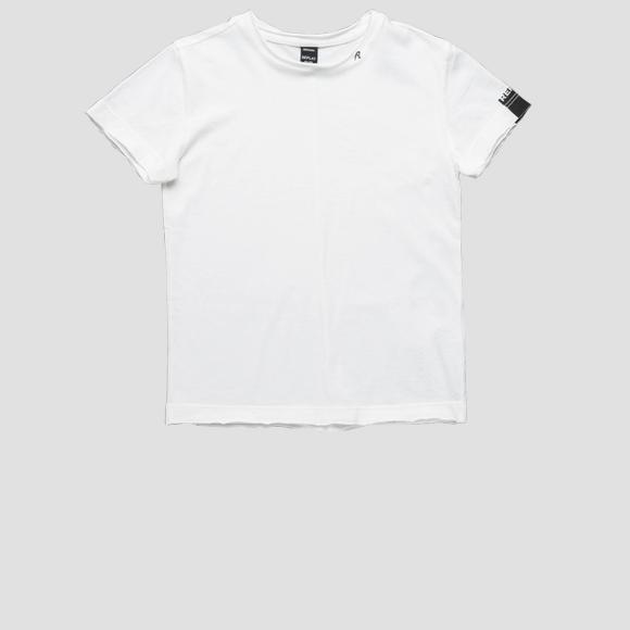 Basic t-shirt with raw cut- REPLAY&SONS SB7528_010_2660_001_1