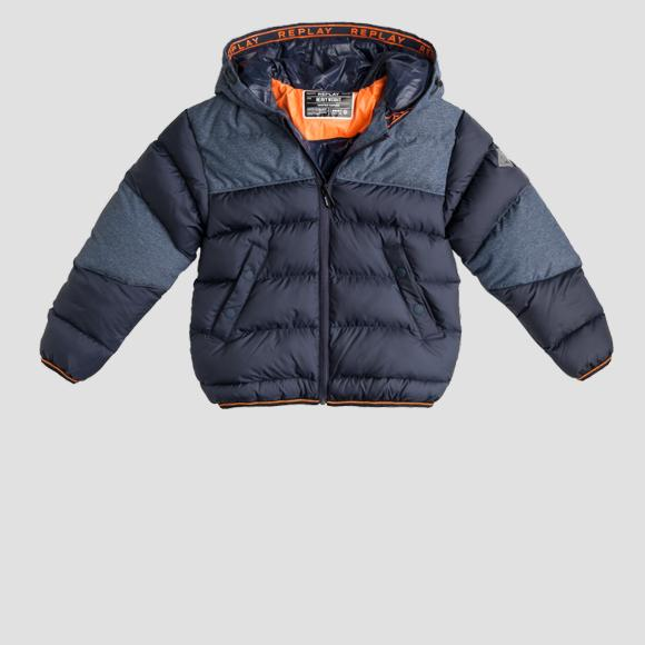 Heavy weight recycled nylon REPLAY print jacket- REPLAY&SONS SB8021_050_84248_010_1