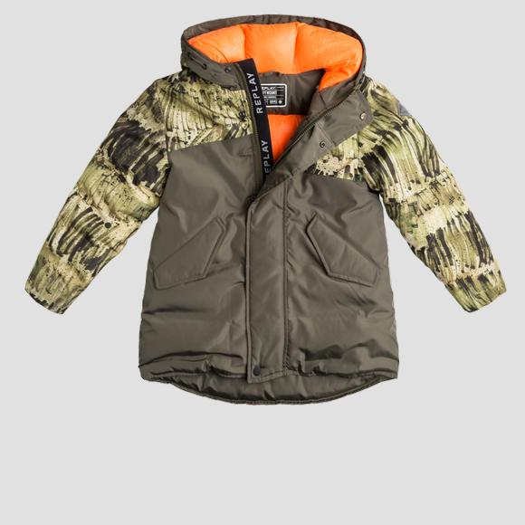 Heavy weight recycled nylon REPLAY long jacket- REPLAY&SONS SB8022_050_84262_432_1
