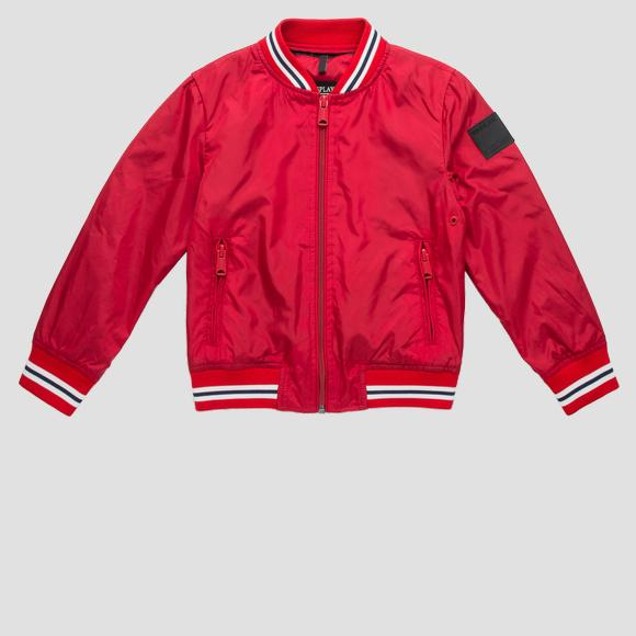 Sporty bomber jacket with zipper- REPLAY&SONS SB8160_050_82692_055_1