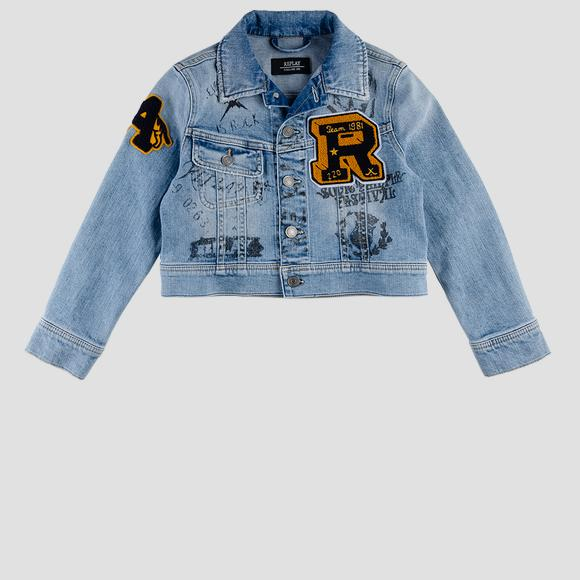 Denim jacket with patch- REPLAY&SONS SB8182_050_223-706_001_1