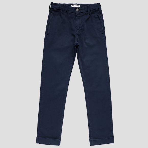 Slim fit trousers in stretch cotton- REPLAY&SONS SB9038_050_8410930_792_1