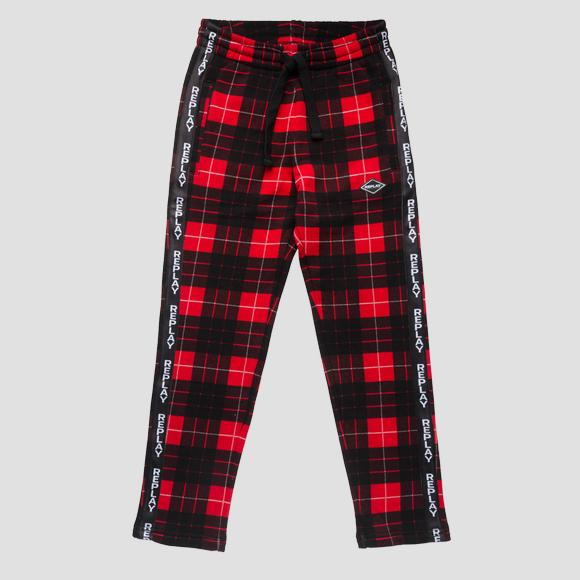 Sporty checked trousers- REPLAY&SONS SB9211_050_20372KI_010_1