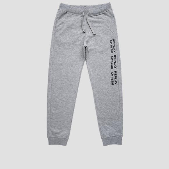 Slim fit REPLAY fleece trousers- REPLAY&SONS SB9380_010_22739_M02_1